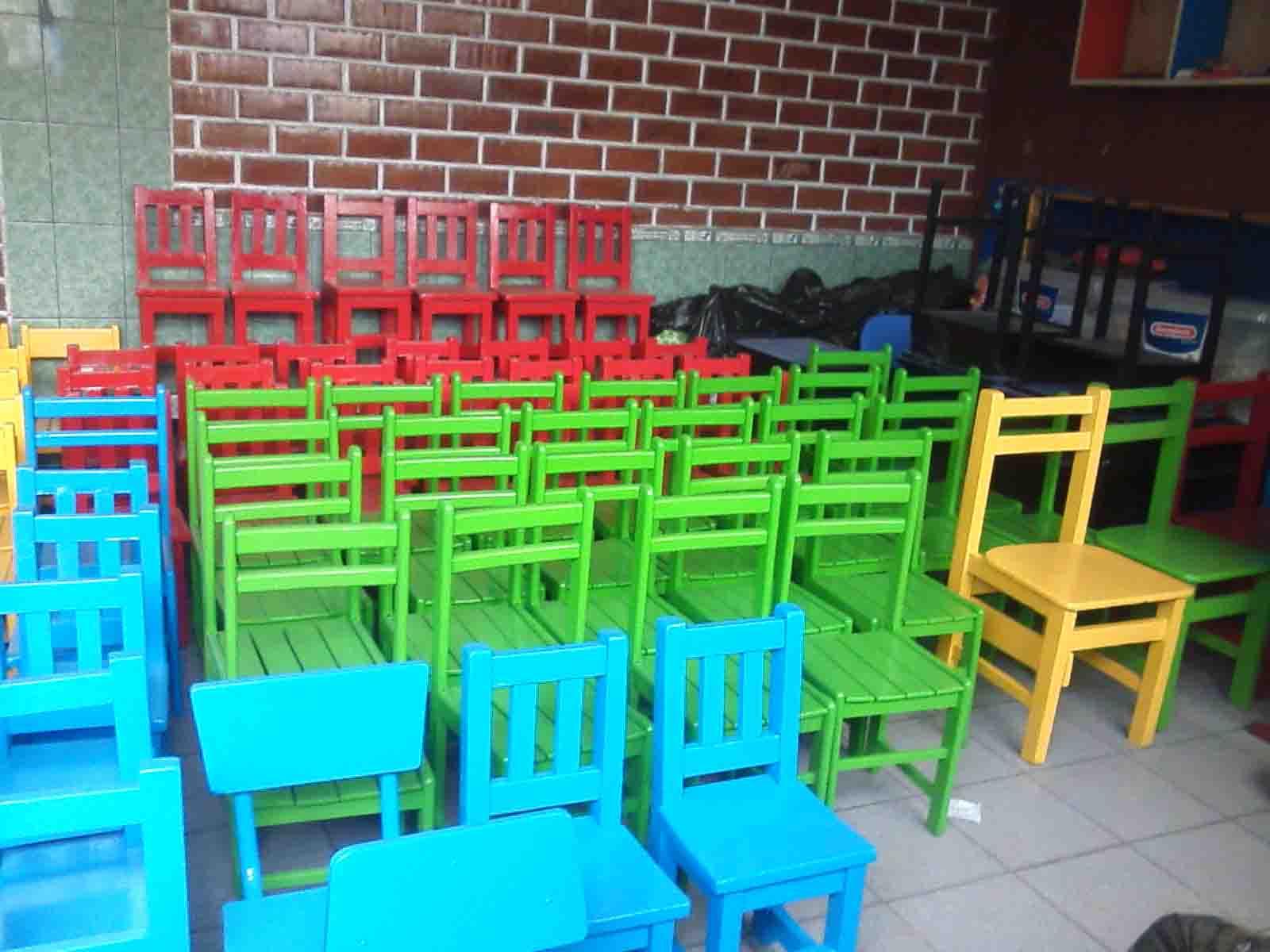 Sillas y mesas para colegio servicios generales for Sillas para inicial